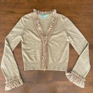 Beth Bowley Wool Cashmere Cardigan Sweater